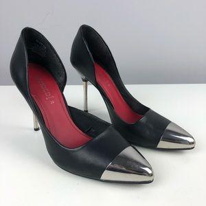 H&M Mirror Cap Toe Pumps - Size 7